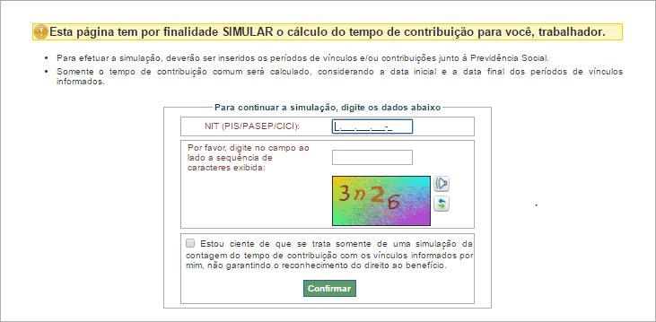 Simulador de aposentadoria INSS