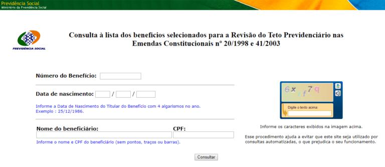 Consulta Benefício INSS pelo CPF