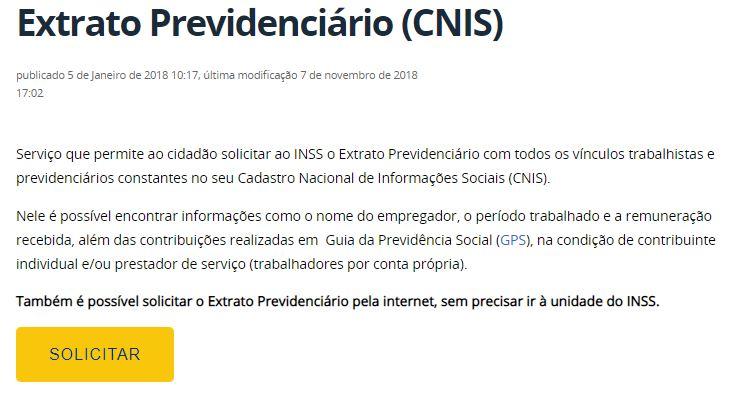 Como Tirar o Extrato Previdenciário CNIS
